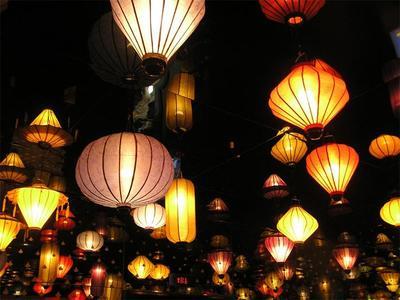 ベトナムハノイの美しいちょうちん