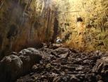 Conservation volunteers in Terciopelo Cave in Barra Honda National Park