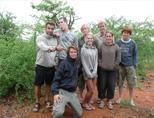 Group of volunteers in Botswana