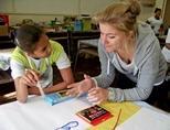 케이프타운의 교육 봉사활동에 참가한 자원봉사자