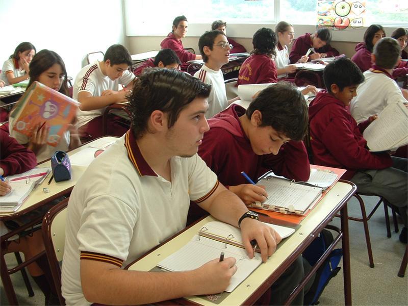 Argentijnse leerlingen op een lesgeef project in Argentinië