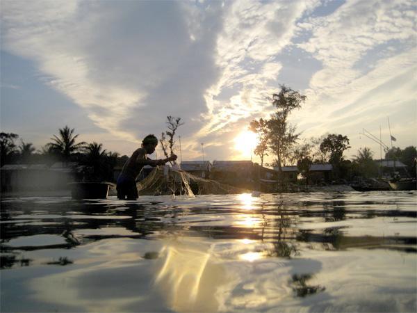 Visserij in Cambodja