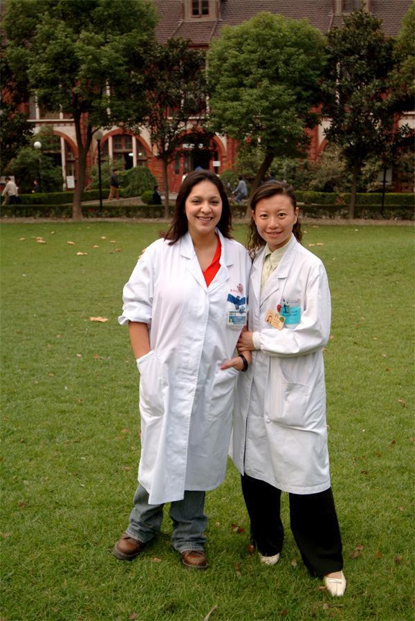 Vrijwilliger tijdens een medische stage in China