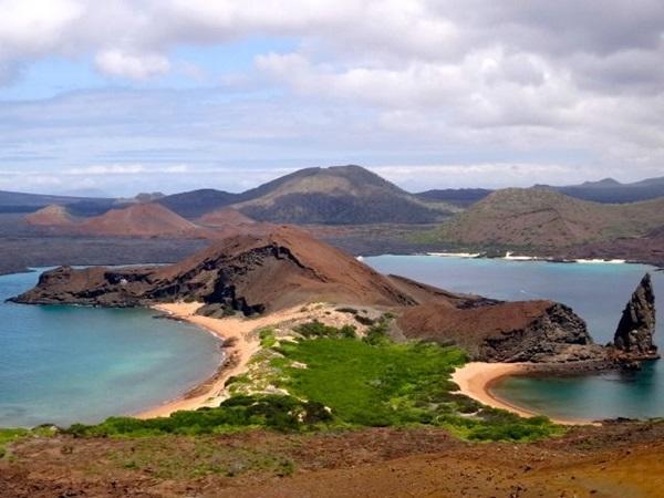Uitzicht op de Galapagos eilanden in Ecuador