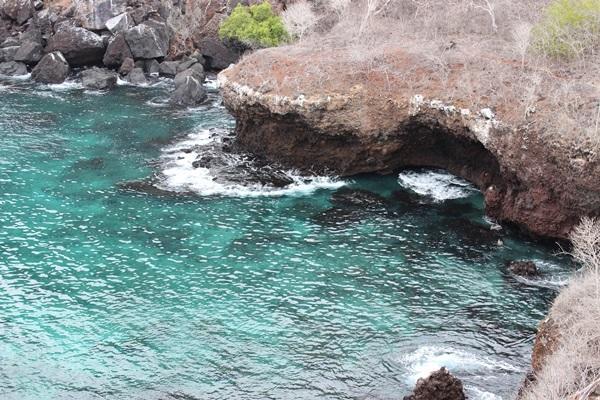 De oceaan van de Galapagos eilanden in Ecuador