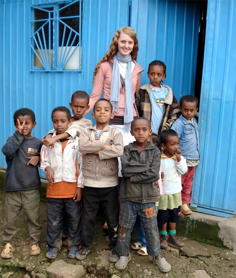 Projects Abroad vrijwilliger bij een sociaal project in Ethiopië