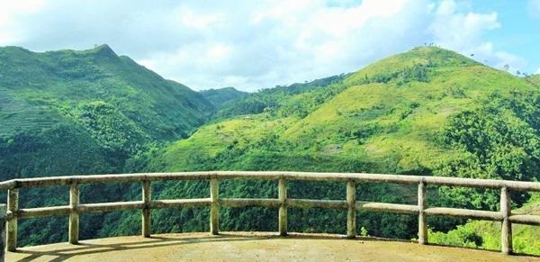 Uitzicht over bergen in de Filippijnen