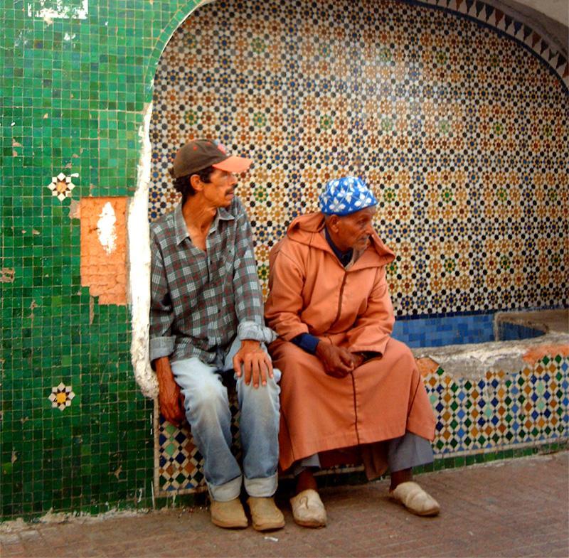 Een typisch straatbeeld in Marokko