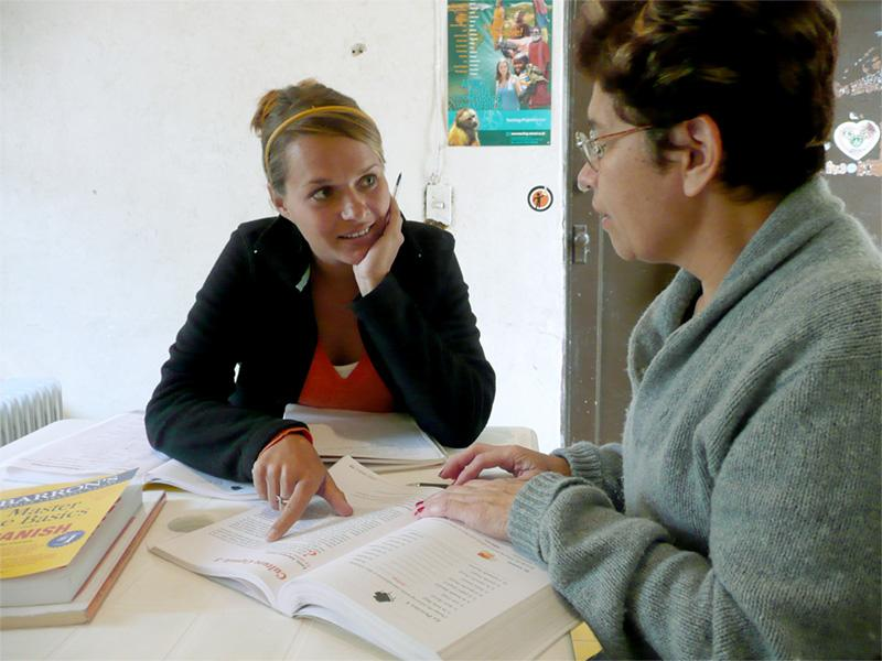 Projects Abroad vrijwilliger volgt Spaanse les in Mexico