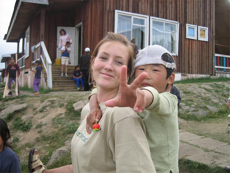 Projects Abroad vrijwilliger bij een sociaal project
