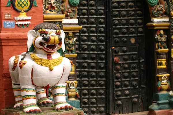 Traditionele tempel in Kathmandu, Nepal
