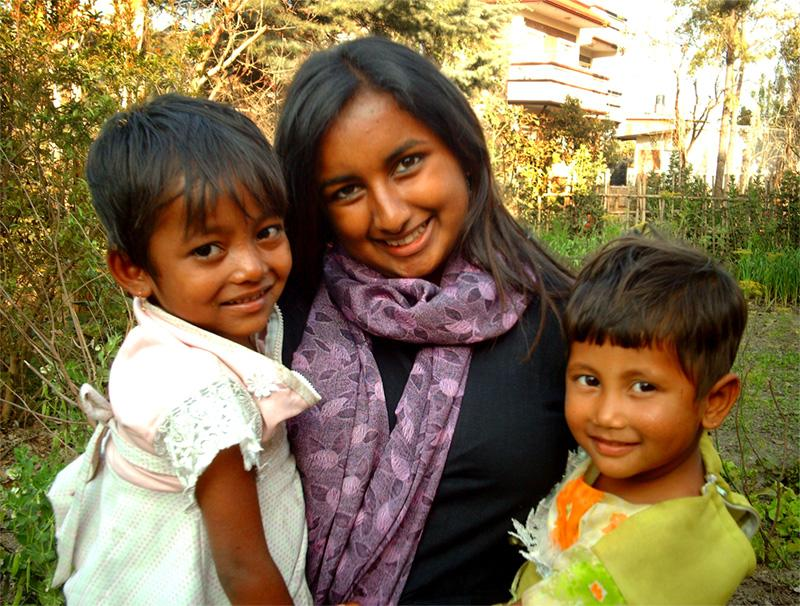 Projects Abroad vrijwilliger bij een sociaal project in Nepal