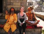 Projects Abroad vrijwilliger bij lokale tempel in Nepal