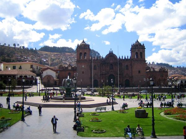 Plein in de stad Cusco