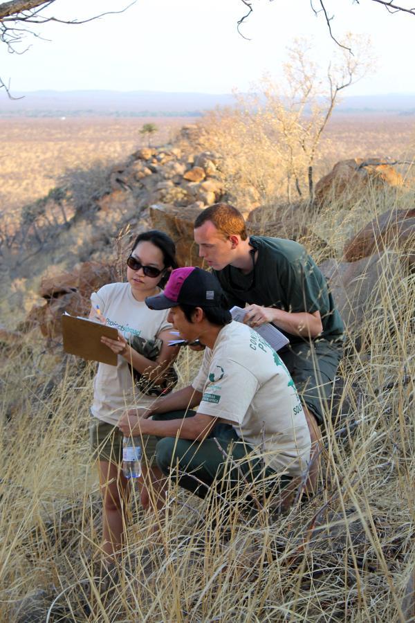 Projects Abroad medewerkers en vrijwilligers aan het werk met het Baobab programma bij het Wild at Tuli reservaat in Botswana