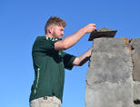 Het bouwproject in het Vrygrond township in Kaapstad