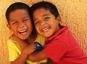 To glade gutter på Undervisningprosjektet i Belize