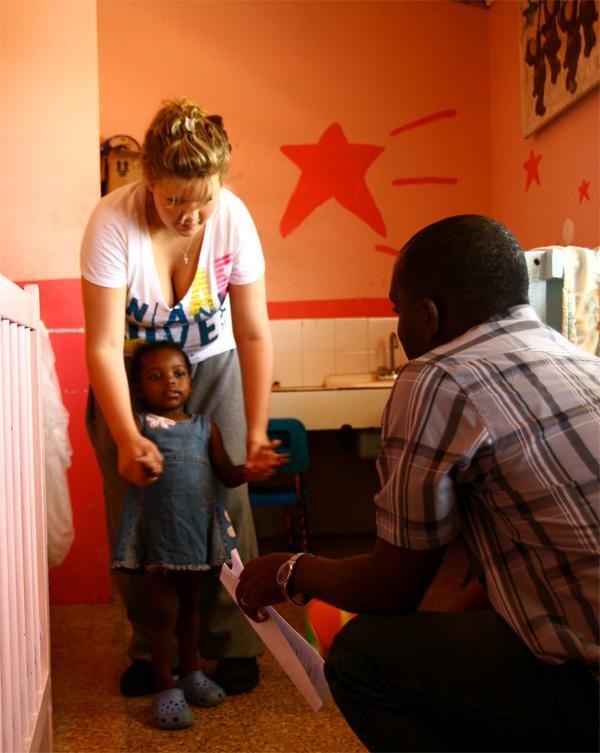 Volunteer at care center