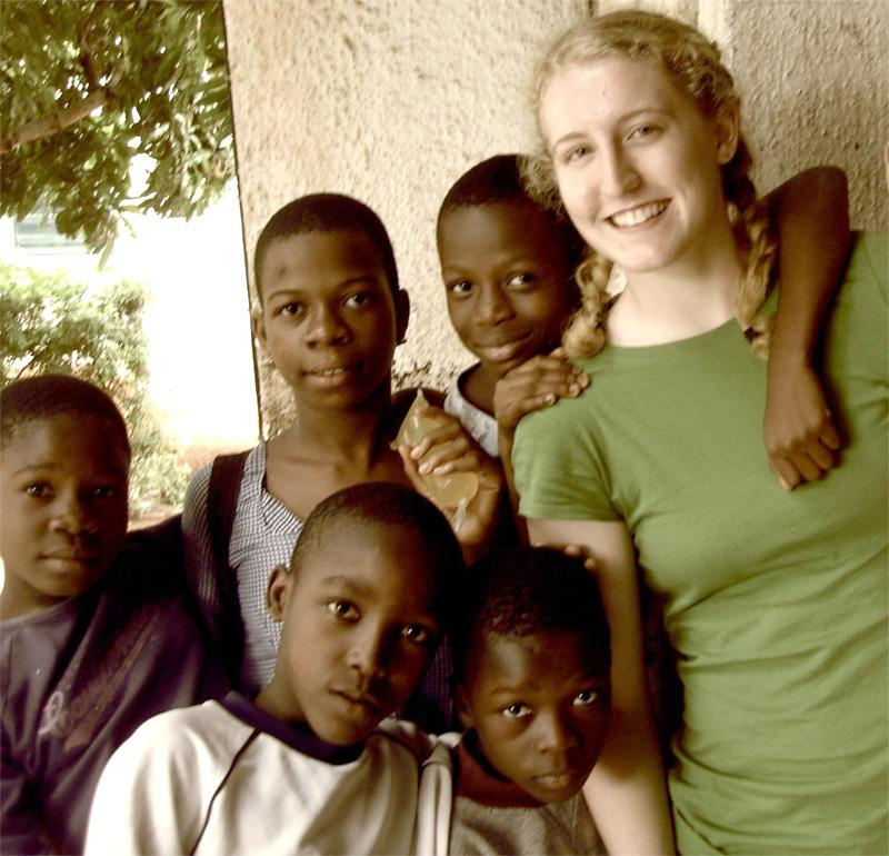 Care volunteer in Togo