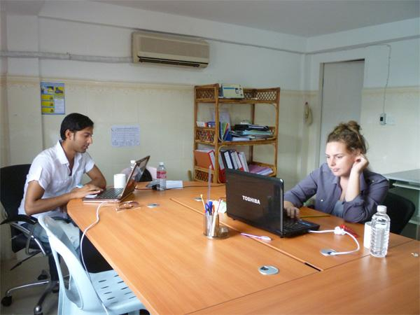 Human Rights volunteers in Cambodia