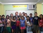 Teaching volunteers in Ecuador