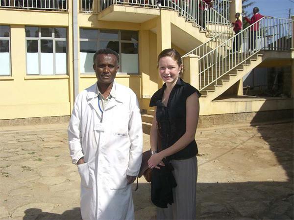 Doctor with volunteer