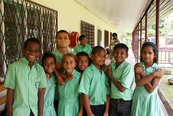 Kids in Fiji