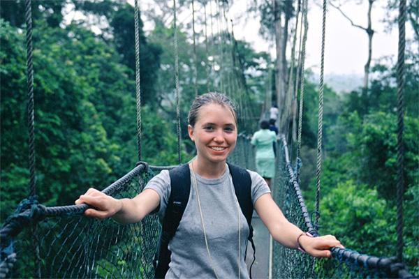 Canopy walk in Cape Coast