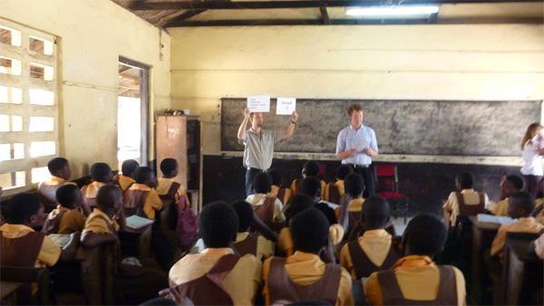 Human Rights volunteers in Ghana