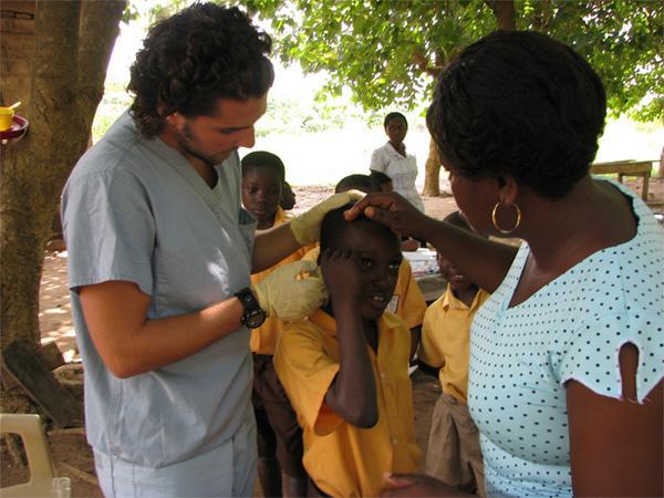Medical intern on an outreach program