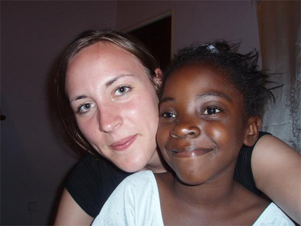 Volunteer with her host sister