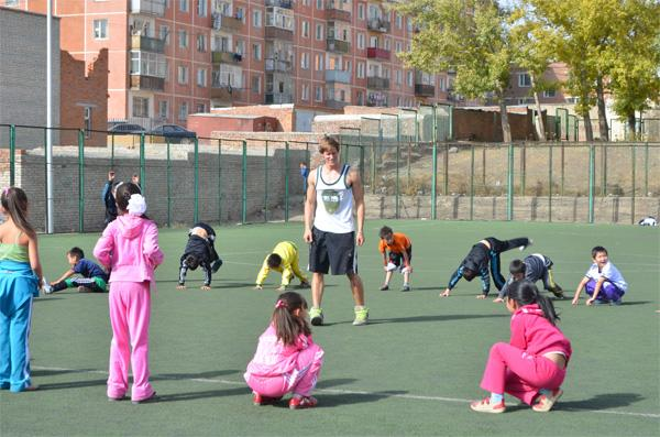 Volunteer coaching sports