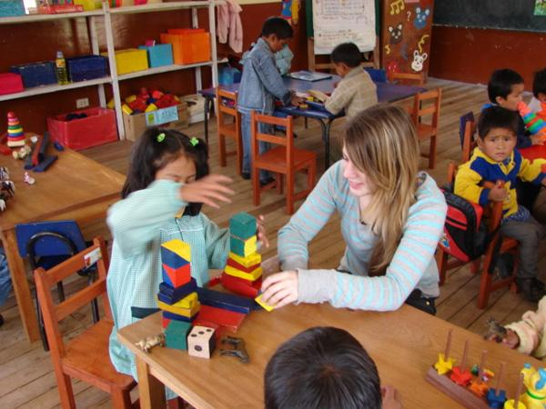 Care volunteer in Peru
