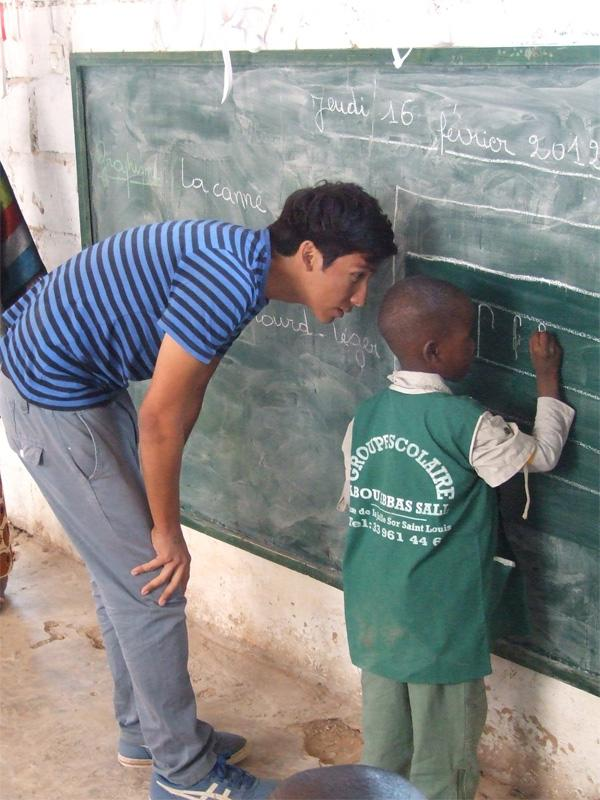 Helping a young student