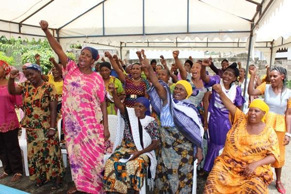 Tanzanian women at the Human Rights project