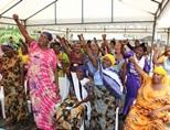 Tanzanian women at the Human Rights project