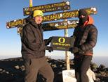 Volunteers on top of Kilimanjaro