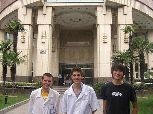Volunteers at hospital