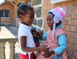 Young children play together in Madagascar