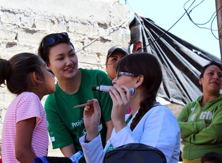 Medical volunteers on a community outreach in Mexico