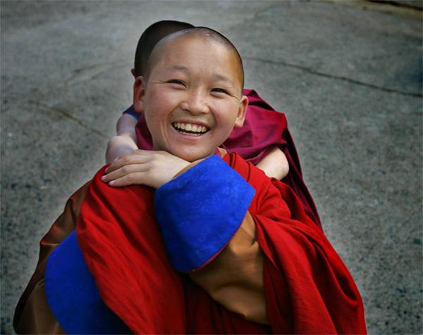 Young Mongolian monk