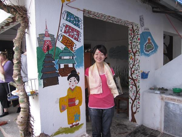 Japanese female volunteers in Nepal