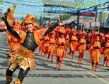 Locals during the Sinulog festival in the Philippines, Asia