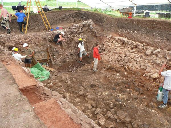 Digging at an Archaeology site