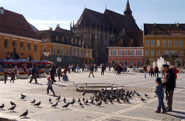 Main square in Brasov