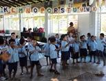 Schoolchildren at All Saints Anglican Pre-school in Apia, Samoa