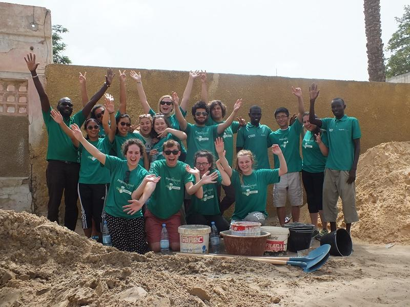 Group of two week special volunteers in Senegal, Africa