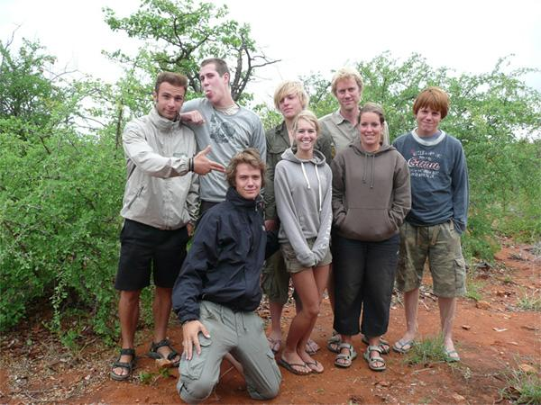 Group of volunteers in Botswana