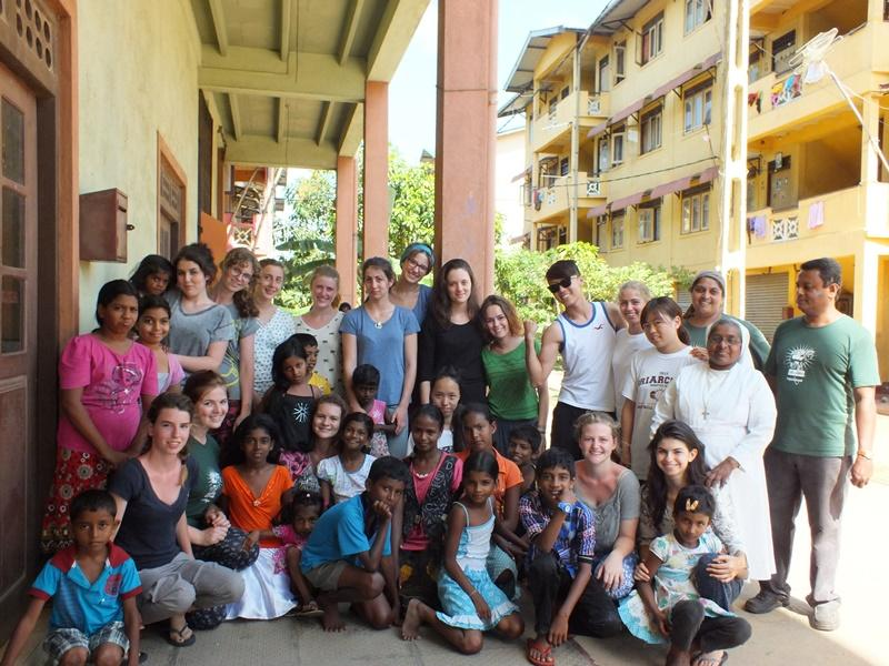 Group of volunteers and locals after a medical awareness in Sri lanka, Asia