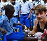 Arian, Medizinpraktikum in Ghana